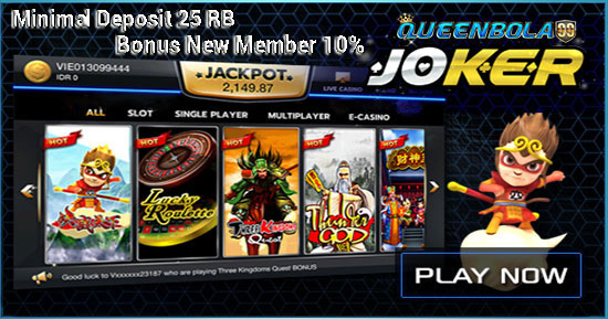 Slot Joker123 Bonus New Member 10%